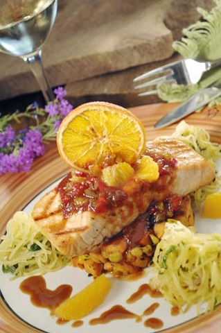 Orange barbecued salmon at Tonto Bar & Grill