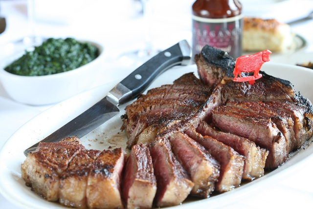 Porterhouse Steak at Wolfgang's Steakhouse by Wolfgang Zwiener