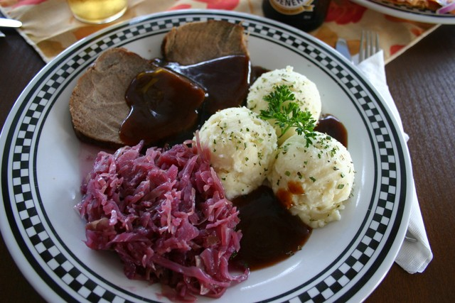 Sauerbraten & Dumplings at Black Forest Cottage