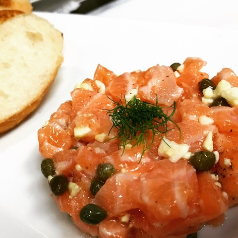 Salmon Tartare at The French 75