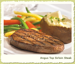 NEW ANGUS TOP SIRLOIN STEAK at Coco's Restaurant & Bakery