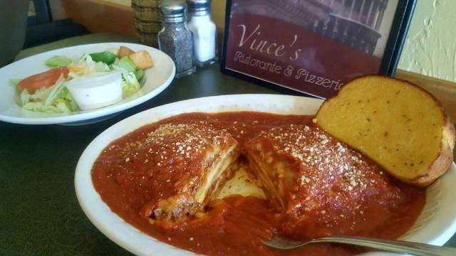 Meat Lasagna at Vince's Restaurant & Pizzeria