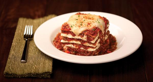 Homemade Baked Lasagna at Carino's Italian Grill